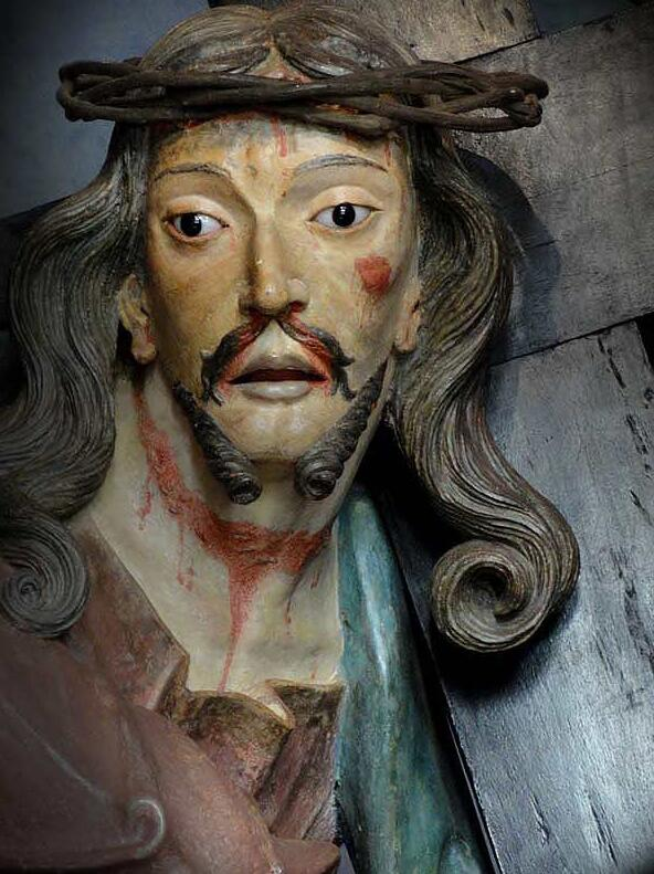 Detail from the statue of Jesus