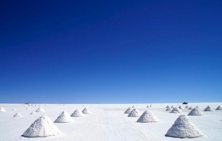 From Salar de Uyuni in southwestern Bolivia