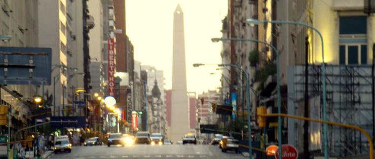 Calle Corrientes and obelisco, Buenos Aires