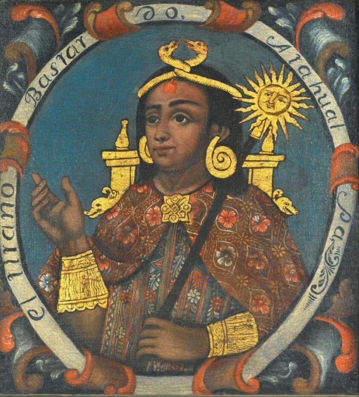 Atahualpa was the last Inca king in Peru, and was executed by the Spaniards in 1533.