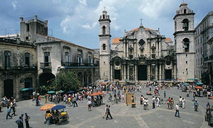 The Cathedral of San Cristóbal in Havana