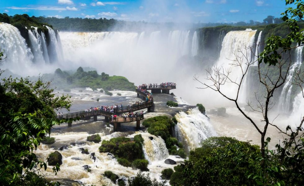 The Saltos del Monday waterfalls