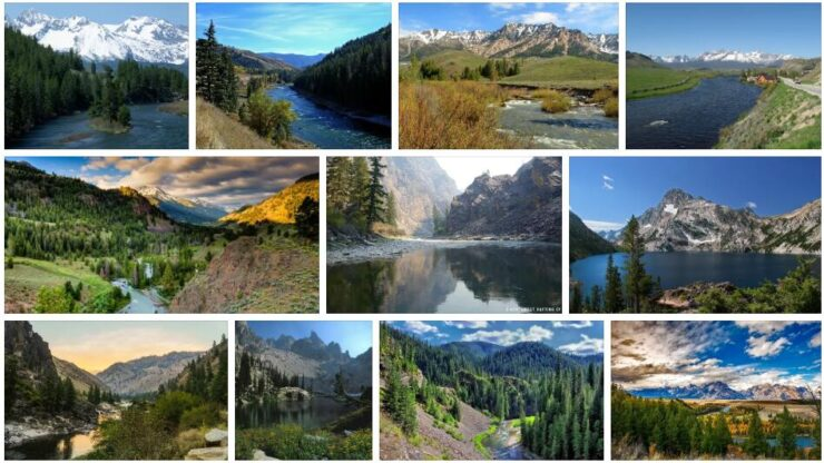 Rivers and Mountains in Idaho