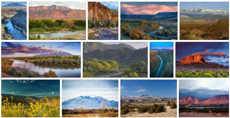 Rivers and Mountains in New Mexico