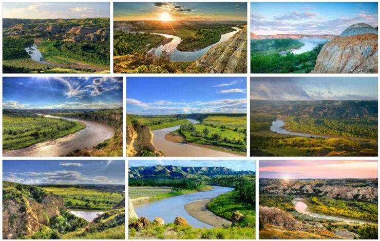 Rivers and Mountains in North Dakota