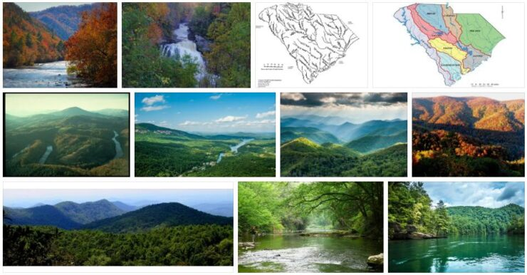 Rivers and Mountains in South Carolina