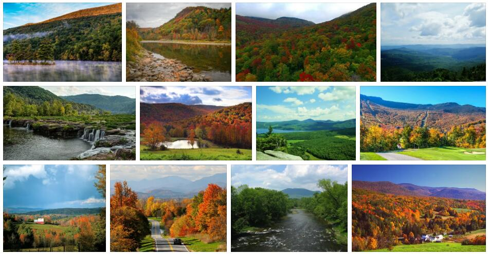 Rivers and Mountains in Vermont