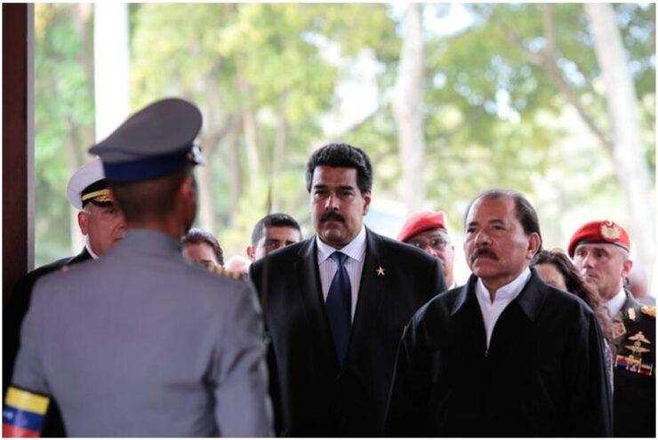 Daniel Ortega and Nicolás Maduro