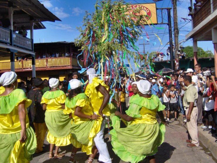 Festival of Palo de Mayo in Bluefields Nicaragua