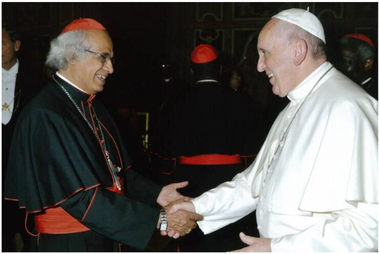 Pope Francis with Cardinal Leopoldo Brenes, Archbishop of Managua