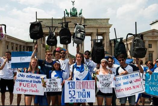 Protest on June 10, 2018 in Berlin against the repression in Nicaragua
