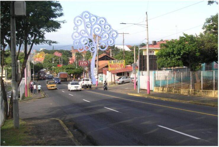 Street scene in Managua Nicaragua