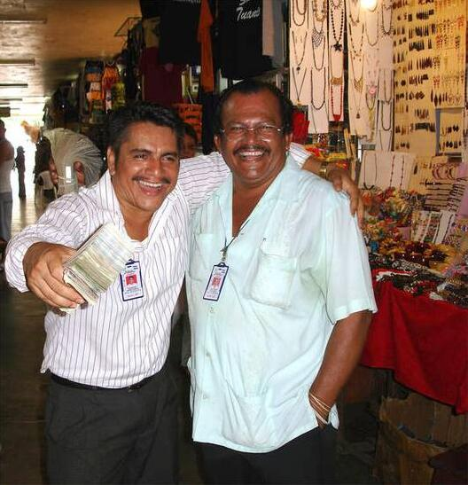 Money changer in Nicaragua